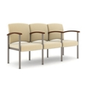 Polyurethane Three Seater with Metal Frame and Center Arm, 26329