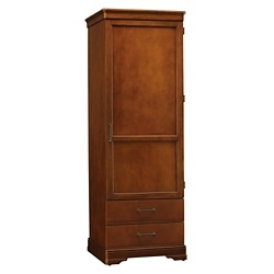 "Single Door Wardrobe with Two Drawers - 77.5""H, 27101"