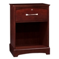 "Open Storage Bedside Cabinet with One Lockable Drawer - 22.5""W, 27106"