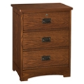 "Three Drawer Bedside Cabinet with Lock - 22.25""W, 27111"
