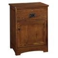 "One Drawer Bedside Cabinet with Lock - 22.25""W, 27112"