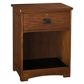 "Open Storage Bedside Cabinet with One Lockable Drawer - 22.25""W, 27113"