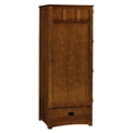 "Single Door Wardrobe with Drawer - 73""H, 27114"