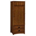"Single Door Wardrobe with Two Drawers - 73""H, 27115"