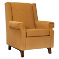 Fabric Glider with Exposed Legs, 76344