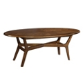 "Oval Coffee Table - 59""W, 53175"