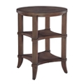 """Lamp Table with Two Lower Shelves - 21.75""""DIA, 53157"""