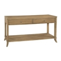 "Sofa Table with Two Drawers and Lower Shelf - 64.75""W, 53173"