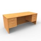 """Double Pedestal Computer Desk - 72""""W x 30""""D, 13652"""