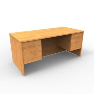 """Double Pedestal Compact Computer Desk - 60""""W x 30""""D, 13654"""