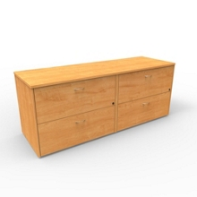 """Four Drawer Lateral File Credenza - 72""""W x 24""""D, 13658"""