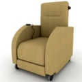 Motor Assist Fabric Patient Recliner with Black Finish Push Bar, 25259
