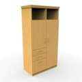 Wardrobe Cabinet with Drawers and Lockable Section, 25275