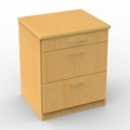 Three Drawer Night Stand with Recessed Back Panel, 25276