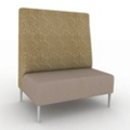 High-Back Collaborative Chair in Fabric and Vinyl, 25552