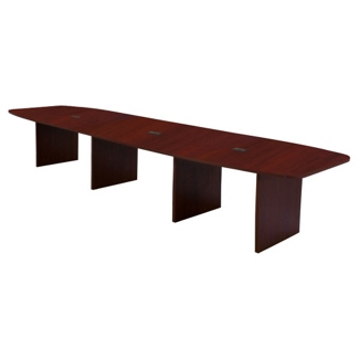 Hyperwork 12' Expandable Boat Shaped Conference Table with Data Ports, 44640