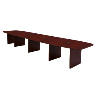 Hyperwork 16' Expandable Boat Shaped Conference Table with Data Ports, 44641