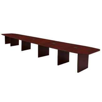 Hyperwork 20' Expandable Boat Shaped Conference Table with Data Port, 44642