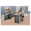 Ascend Rectangular Standing Height Meeting Table with Power Module - 6 ft, 46042