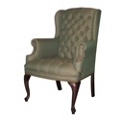Traditional Fabric Wing Back Arm Chair, 55558