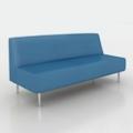 Vinyl Modern Armless Sofa, 75992