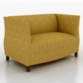 Fabric Loveseat with High Arms, 76200