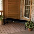"Outdoor Parson Leg Synthetic Wood Bench- 60""W, 85406"