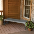 "Outdoor Parson Leg Synthetic Wood Bench- 48""W, 85408"