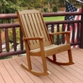 Vertical Slat Synthetic Wood Rocking Chair, 85635