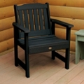 Outdoor Vertical Slat Synthetic Wood Garden Chair, 85636