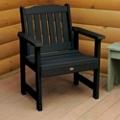 Outdoor Vertical Slat Synthetic Wood Garden Chair, 85636
