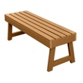 """Outdoor A Frame Synthetic Wood Bench 48""""W, 85857"""