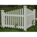 Corner Picket Synthetic Wood  Fence, 87455