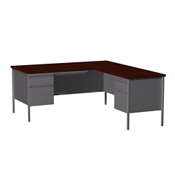 "L-Desk with Right Return - 66""W , 14150"