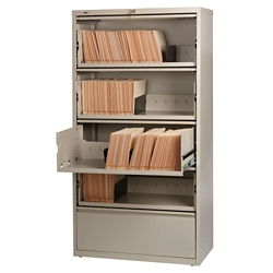 """36""""W Five Drawer Roll Out Binder Lateral File, 30047"""