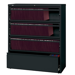 """42""""W Four Drawer Roll Out Binder Lateral File, 30051"""