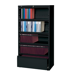 """42""""W Five Drawer Roll Out Binder Lateral File, 30065"""
