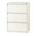 "Three Drawer Lateral File in Cloud Finish - 30""W, 30599"