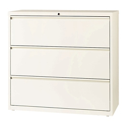 """Three Drawer Lateral File in Cloud Finish - 42""""W, 30607"""