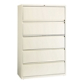 "Five Drawer Lateral File in Cloud Finish - 42""W, 30609"
