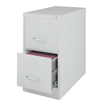 "26.5""D Two Drawer Letter Vertical File, 34501"