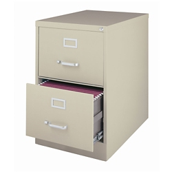 """26.5""""D Two Drawer Legal Vertical File, 34502"""