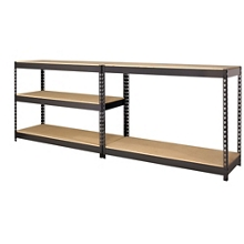 "Five Shelf Riveted Shelving - 48""W x 18""D x 72""H, 36254"