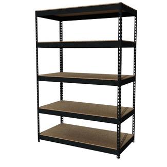 "Five Shelf Riveted Shelving-48""W x 24""D x 72""H, 36255"
