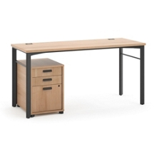 Modern Computer Desk and Pedestal, 13843