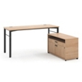 "Modern Computer L-Desk - 60""W, 13846"