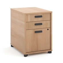 """Three Drawer Modern Pedestal - 16""""W , 34942"""