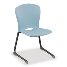 Armless Charcoal Frame Cantilever Chair, 51016
