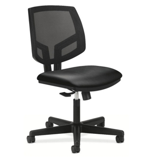 HON Volt Armless Mesh and Leather Task Chair, 56970