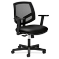 HON Volt Mesh and Leather Task Chair with Synchro Tilt, 56976